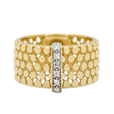 Anillo diseño en oro amarillo de 18 Kilates con diamante