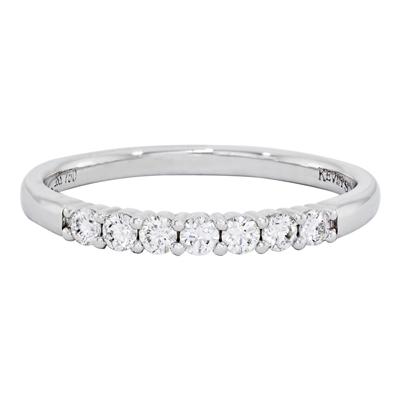 Argolla en oro blanco de 18 Kilates diseños con diamantes en decoracion de 0.25Ct peso total