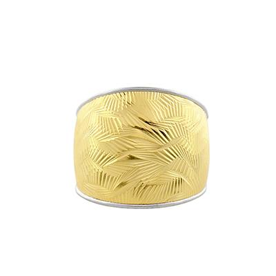 Anillo en oro amarillo de 18 Kilates visos, 16 milímetros de ancho