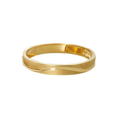 Argolla plana en oro amarillo de 18 Kilates satinado, 3.0 mm. de ancho de la colección (sin coleccion)