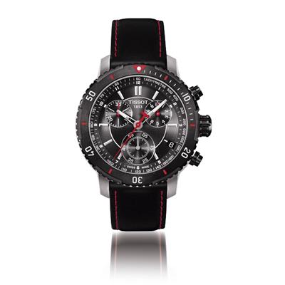 Reloj para Hombre, tablero redondo, gris, index, analogo, pulso cuero gris, calendario, cronografo